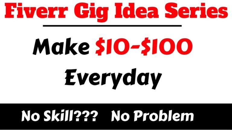 New Fiverr Gig Idea For Unskilled Person